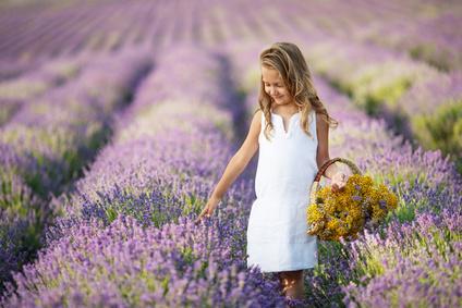 Kinderyoga Stundenbilder - Lavender