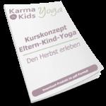eltern kind yoga stundenbilder herbst