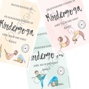 Kinderyoga Urkunden Set