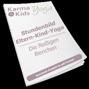eltern kind yoga stundenbild biene
