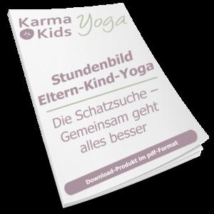 eltern kind yoga stundenbild schatzsuche