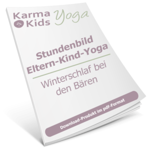 eltern kind yoga stundenbild winterschlaf