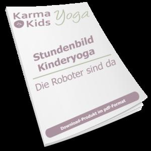 stundenbild yoga kinder roboter