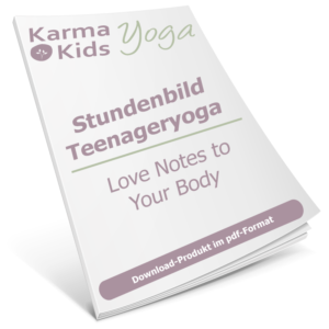 Kinderyoga Stundenbild - Love notes to your body