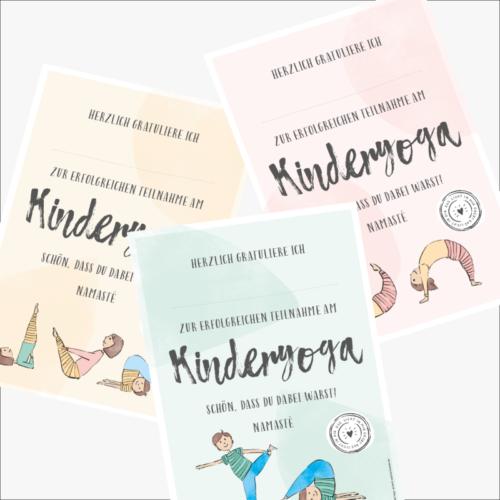 Kinderyoga Stundenbilder - Urkunden